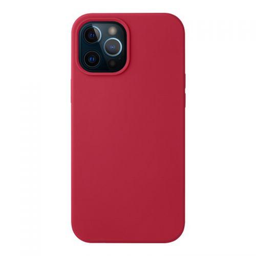 """Чехол-накладка силикон Deppa Liquid Silicone Case D-87784 для iPhone 12 Pro Max (6.7"""") 1.7мм Красный"""