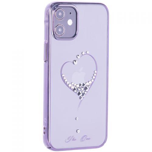 """Чехол-накладка KINGXBAR для iPhone 12 mini (5.4"""") пластик со стразами Swarovski черный (The One)"""