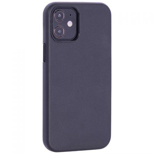 """Чехол-накладка кожаный TOTU Emperor Series Leather Case для iPhone 12 mini 2020 г. (5.4"""") Черный"""