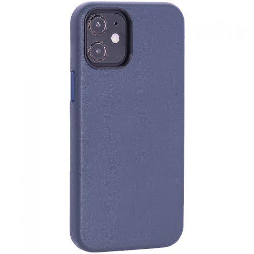 "Чехол-накладка кожаный TOTU Emperor Series Leather Case для iPhone 12 mini 2020 г. (5.4"") Темно-синий"