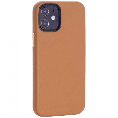 """Чехол-накладка кожаный TOTU Emperor Series Leather Case для iPhone 12 mini 2020 г. (5.4"""") Коричневый"""