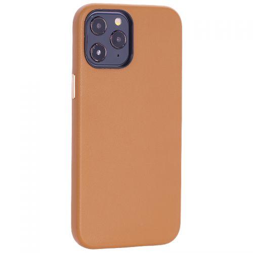 """Чехол-накладка кожаный TOTU Emperor Series Leather Case для iPhone 12 Pro Max 2020 (6.7"""") Коричневый"""