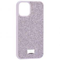 """Чехол-накладка силиконовая со стразами SWAROVSKI Crystalline для iPhone 12 mini (5.4"""") Серый"""