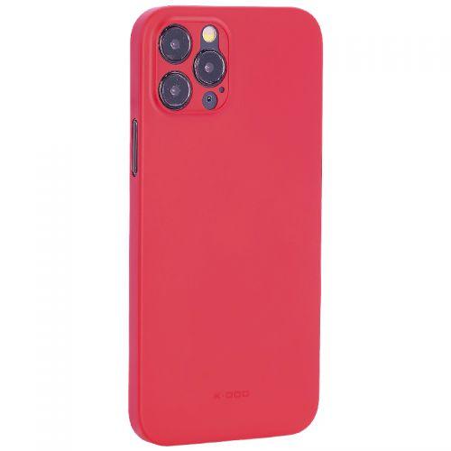 """Чехол-накладка пластиковая K-Doo Air Skin 0.3мм для Iphone 12 Pro (6.1"""") Красная"""