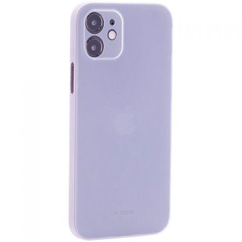 "Чехол-накладка пластиковая K-Doo Air Skin 0.3мм для Iphone 12 (6.1"") Белая"
