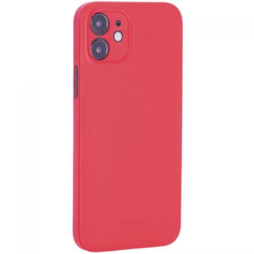 """Чехол-накладка пластиковая K-Doo Air Skin 0.3мм для Iphone 12 (6.1"""") Красная"""