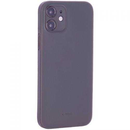 "Чехол-накладка пластиковая K-Doo Air Skin 0.3мм для Iphone 12 (6.1"") Серая"