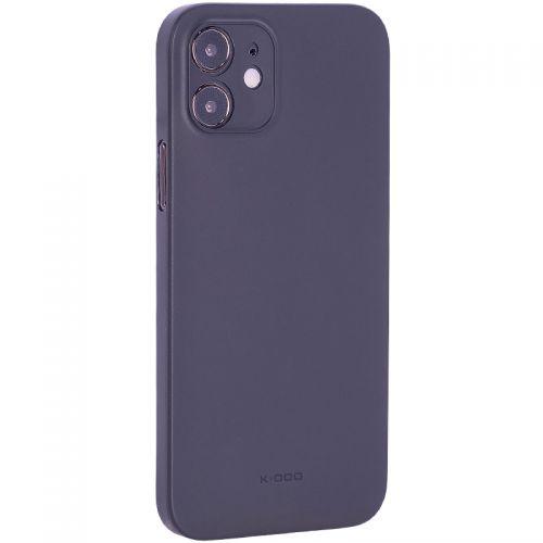 "Чехол-накладка пластиковая K-Doo Air Skin 0.3мм для Iphone 12 (6.1"") Черная"