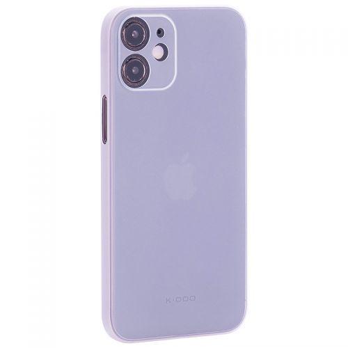 "Чехол-накладка пластиковая K-Doo Air Skin 0.3мм для Iphone 12 mini (5.4"") Белая"