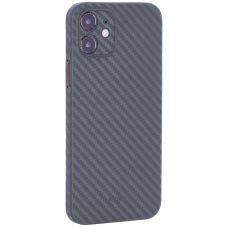 """Чехол-накладка карбоновая K-Doo Air Carbon 0.45мм для Iphone 12 (6.1"""") Зеленая"""