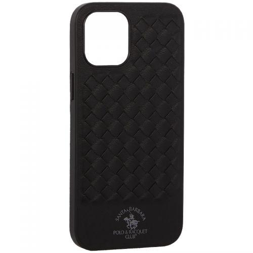 "Накладка кожаная Santa Barbara Polo&Racquet Club Ravel Series для iPhone 12 Pro Max (6.7"") Черная"