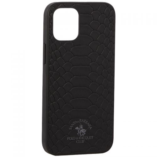 "Накладка кожаная Santa Barbara Polo&Racquet Club Knight Series для iPhone 12 mini (5.4"") Черная"
