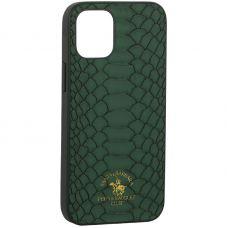 "Накладка кожаная Santa Barbara Polo&Racquet Club Knight Series для iPhone 12 mini (5.4"") Зеленая"