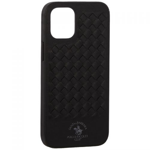 "Накладка кожаная Santa Barbara Polo&Racquet Club Ravel Series для iPhone 12 mini (5.4"") Черная"