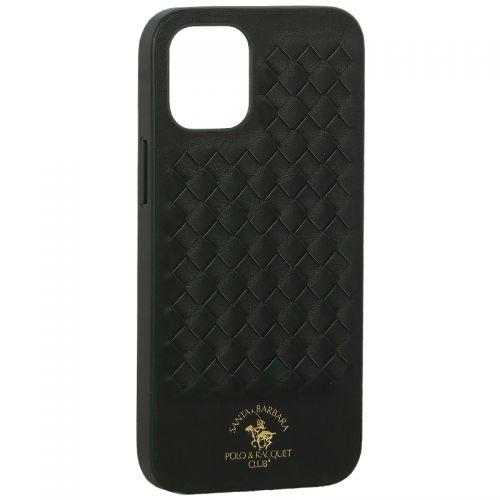 "Накладка кожаная Santa Barbara Polo&Racquet Club Ravel Series для iPhone 12 mini (5.4"") Зеленая"
