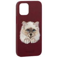 "Накладка кожаная Santa Barbara Polo&Racquet Club SAV Series для iPhone 12 mini (5.4"") Cat-кот"