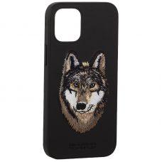 "Накладка кожаная Santa Barbara Polo&Racquet Club SAV Series для iPhone 12 mini (5.4"") Wolf-волк"