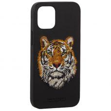 "Накладка кожаная Santa Barbara Polo&Racquet Club SAV Series для iPhone 12 mini (5.4"") Tiger-тигр"