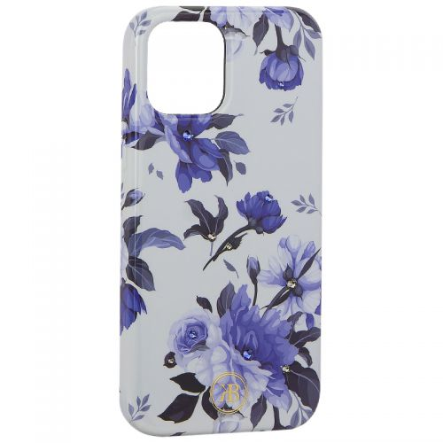 "Чехол-накладка KINGXBAR для iPhone 12/ 12 Pro (6.1"") пластик со стразами Swarovski (Цветочная серия №1)"