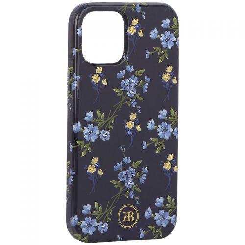"Чехол-накладка KINGXBAR для iPhone 12/ 12 Pro (6.1"") пластик со стразами Swarovski (Цветочная серия №2)"