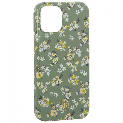 "Чехол-накладка KINGXBAR для iPhone 12/ 12 Pro (6.1"") пластик со стразами Swarovski (Цветочная серия №3)"