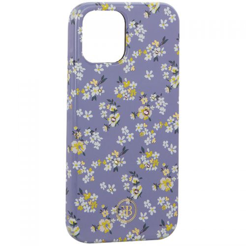 "Чехол-накладка KINGXBAR для iPhone 12/ 12 Pro (6.1"") пластик со стразами Swarovski (Цветочная серия №4)"