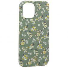 """Чехол-накладка KINGXBAR для iPhone 12 Pro Max (6.7"""") пластик со стразами Swarovski (Цветочная серия №3)"""