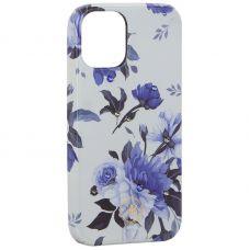"""Чехол-накладка KINGXBAR для iPhone 12 mini (5.4"""") пластик со стразами Swarovski (Цветочная серия №1)"""