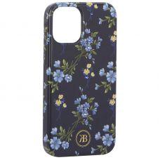 """Чехол-накладка KINGXBAR для iPhone 12 mini (5.4"""") пластик со стразами Swarovski (Цветочная серия №2)"""