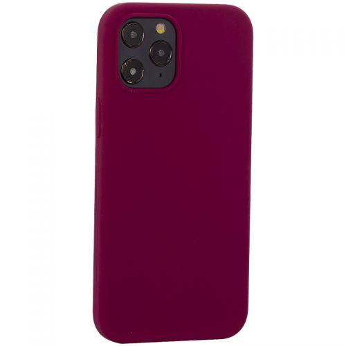 """Накладка силиконовая MItrifON для iPhone 12 Pro Max (6.7"""") без логотипа Maroon Бордовый №52"""