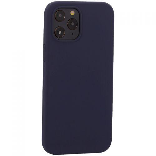 """Накладка силиконовая MItrifON для iPhone 12 Pro Max (6.7"""") без логотипа Midnight Blue Темно-синий №8"""