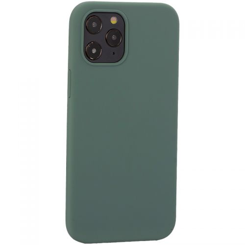 "Накладка силиконовая MItrifON для iPhone 12 Pro Max (6.7"") без логотипа Pine Green Бриллиантово-зеленый № 58"