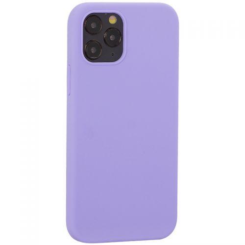"Накладка силиконовая MItrifON для iPhone 12/ 12 Pro (6.1"") без логотипа Lilac Сиреневый №41"