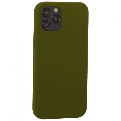 """Накладка силиконовая MItrifON для iPhone 12/ 12 Pro (6.1"""") без логотипа Marsh Болотный №48"""