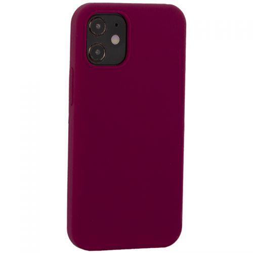 "Накладка силиконовая MItrifON для iPhone 12 mini (5.4"") без логотипа Maroon Бордовый №52"