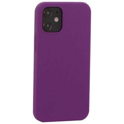 """Накладка силиконовая MItrifON для iPhone 12 mini (5.4"""") без логотипа Violet Фиолетовый №45"""
