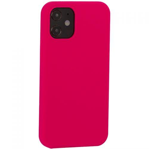 """Накладка силиконовая MItrifON для iPhone 12 mini (5.4"""") без логотипа Bright pink Ярко-розовый №47"""