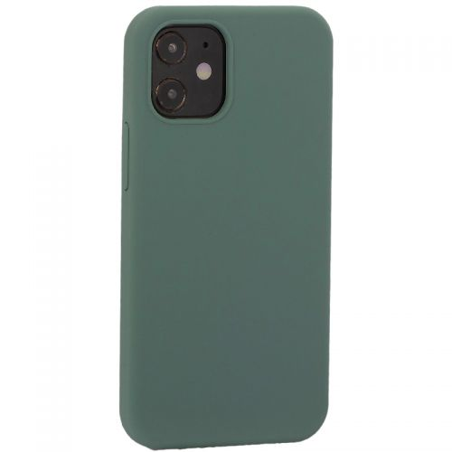 """Накладка силиконовая MItrifON для iPhone 12 mini (5.4"""") без логотипа Pine Green Бриллиантово-зеленый № 58"""