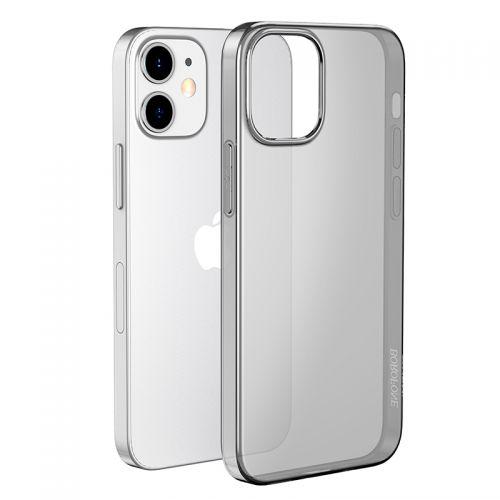 """Чехол силиконовый Hoco Light Series для iPhone 12 mini (5.4"""") Дымчатый"""