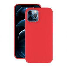 """Чехол-накладка силикон Deppa Soft Silicone Case D-87770 для iPhone 12 Pro Max (6.7"""") Красный"""