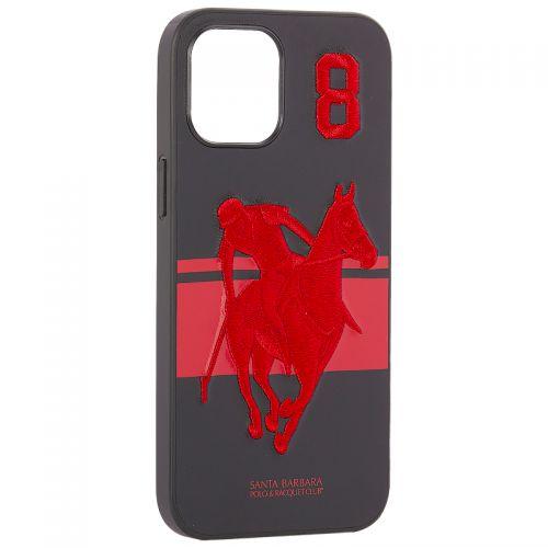 "Накладка кожаная Santa Barbara Polo&Racquet Club SPGNE Series для iPhone 12 Pro Max (6.7"") Черная"