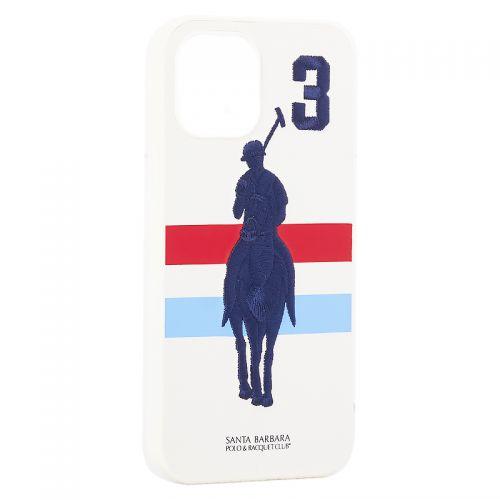 "Накладка кожаная Santa Barbara Polo&Racquet Club SPGNE Series для iPhone 12 Pro Max (6.7"") Белая"