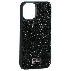 """Чехол-накладка силиконовая со стразами SWAROVSKI Crystalline для iPhone 12 mini (5.4"""") Темно-зеленый №4"""