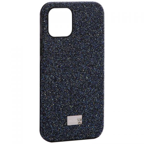 """Чехол-накладка силиконовый со стразами Mutural для Iphone 12/ 12 Pro (6.1"""") Синий"""