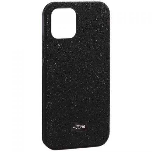 """Чехол-накладка силиконовый со стразами Mutural для Iphone 12/ 12 Pro (6.1"""") Черный"""