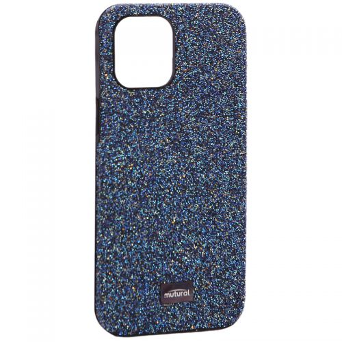 """Чехол-накладка силиконовый со стразами Mutural для Iphone 12 Pro Max (6.7"""") Синий"""