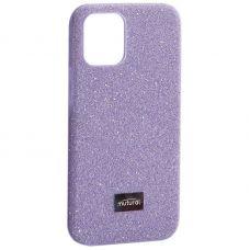 """Чехол-накладка силиконовый со стразами Mutural для Iphone 12 mini (5.4"""") Лавандовый"""