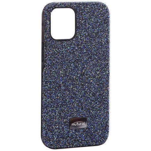 """Чехол-накладка силиконовый со стразами Mutural для Iphone 12 mini (5.4"""") Синий"""