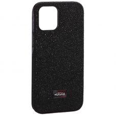 """Чехол-накладка силиконовый со стразами Mutural для Iphone 12 mini (5.4"""") Черный"""