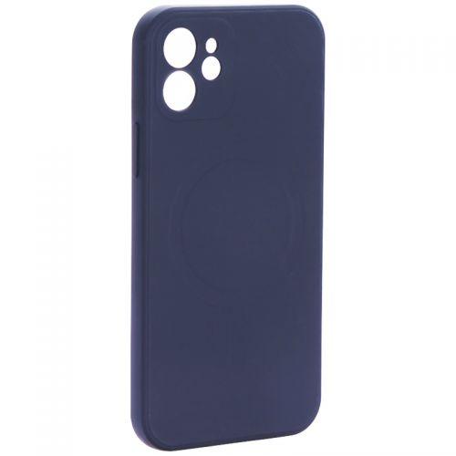 """Чехол-накладка силиконовая J-case Creative Case Liquid Silica Magic Magnetic для iPhone 12 (6.1"""") Черный"""